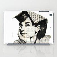 audrey iPad Cases featuring Audrey by Krzyzanowski Art