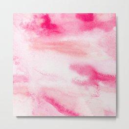 PINK AND RED WATER COLOR SWASH Metal Print