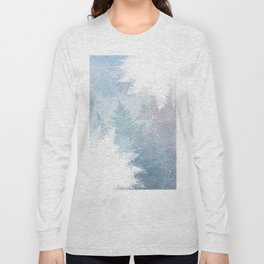 Fern Snowflakes - Taupe, Aqua & Blues Long Sleeve T-shirt