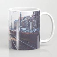 train Mugs featuring Train by Ghdv Grafias