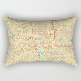 Columbus Map Retro Rectangular Pillow
