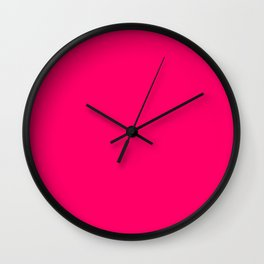 Bright Fluorescent Pink Neon Wall Clock