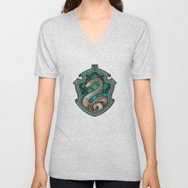 Hogwarts House Crest - Slytherin Unisex V-Neck
