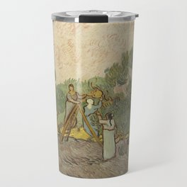 Women Picking Olives Travel Mug