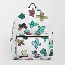 Butterfly pattern in watercolor Backpack