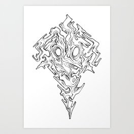 Mask of Warped Sight Art Print