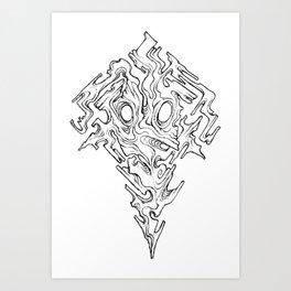 Mask of Warped Sight Art Print
