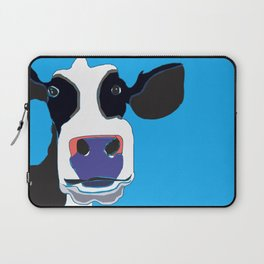 Cow in the Blue Sky Laptop Sleeve