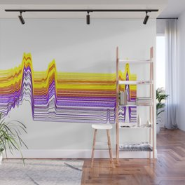 Fe Lines in Neon Colors Wall Mural