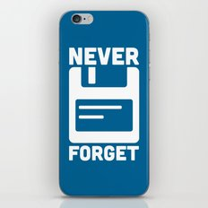 Never Forget Floppy Disk iPhone & iPod Skin