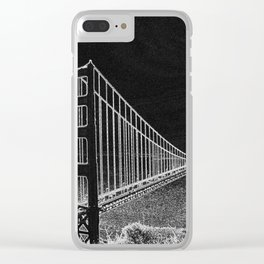 Golden Gate Abstract Clear iPhone Case