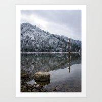 First Snows Solitude  Art Print
