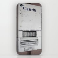 cigarette iPhone & iPod Skins featuring Cigarette by Upperleft Studios