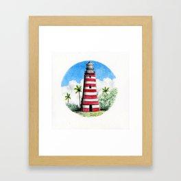 Hopetown Lighthouse Framed Art Print