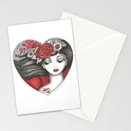 Valentine Girl Stationery Cards