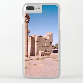 Temple of Dendera, no. 4 Clear iPhone Case