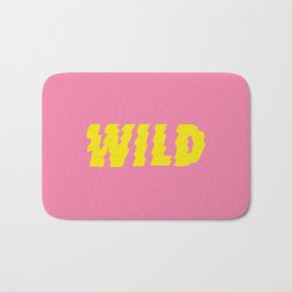 Wild – Pink and Yellow Bath Mat