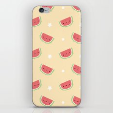 Kawaii watermelon iPhone & iPod Skin