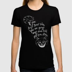 Cheshire Cat SMALL Womens Fitted Tee Black
