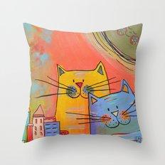 City cats Throw Pillow