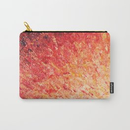 SAILOR'S SUNRISE - Beautiful Modern Abstract Crimson and Pink Nature Sky Sunset Ocean Reflection Carry-All Pouch