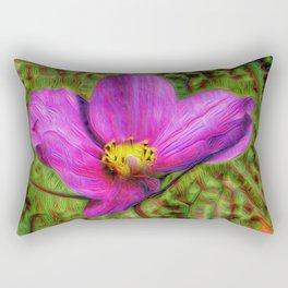 DeepDream Flowers, Wild Flower, DeepDream style Rectangular Pillow