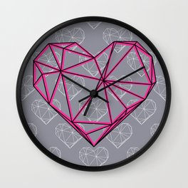Caged Heart Wall Clock