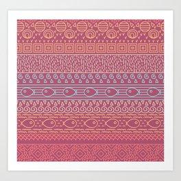Ethnic pattern  Art Print