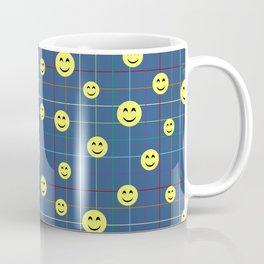 Colorful Smiley Emoji 5 - dark blue Coffee Mug