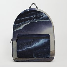 Marble in Blue and Ivories Backpack