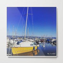 Beautiful day lake Geneva Switzerland Metal Print