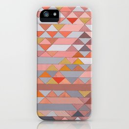 Triangle Pattern no.5 Gold, Pink and Brown iPhone Case