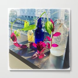 Still Life With Magenta and Green Vines Metal Print