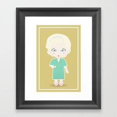 Girls in their Golden Years - Rose Framed Art Print