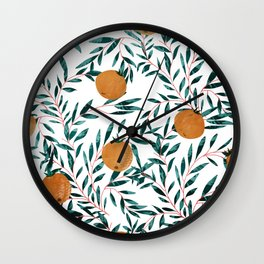 Mandarins Wall Clock