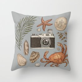 Summer Beach Collection Throw Pillow