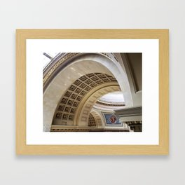 Wisconsin Capitol Building Arches And Angles Framed Art Print