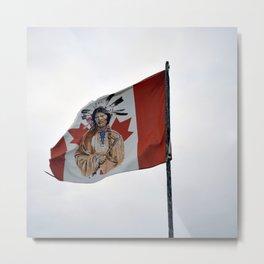 Flag in the Deh Cho Metal Print