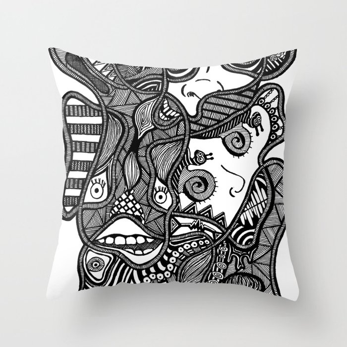 Faces in the Dark Throw Pillow