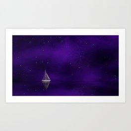 Purple Ship Art Print