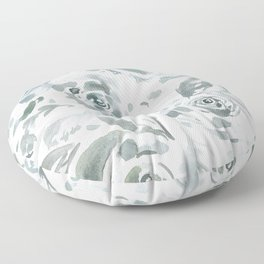 Evelyn Gray Floral Floor Pillow