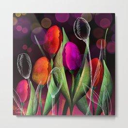 Vibrant Tulips Metal Print
