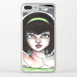 Frankenstein lady Clear iPhone Case