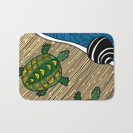 Struggle of the Turtle to the Sea Badematte