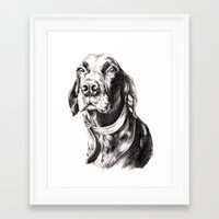 charlie Framed Art Prints featuring Charlie by Hana Robinson