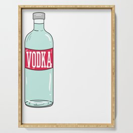 Funny & Relaxing Vodka Tee Design Save water Serving Tray
