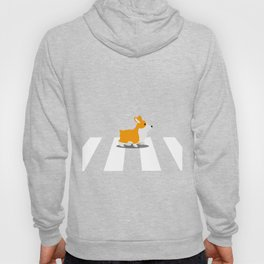 Dog Corgi walk over Crosswalk Hoody