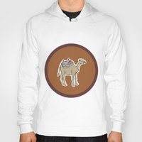 camel Hoodies featuring camel by johanna strahl
