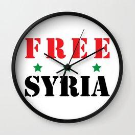 FREE SYRIA Wall Clock