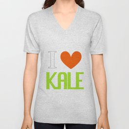 I Love Kale - Vegan & Vegetarian - Kale Love Unisex V-Neck